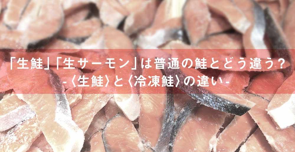 「生鮭」「生サーモン」は普通の鮭とどう違う?-〈生鮭〉と〈冷凍鮭〉の違い-