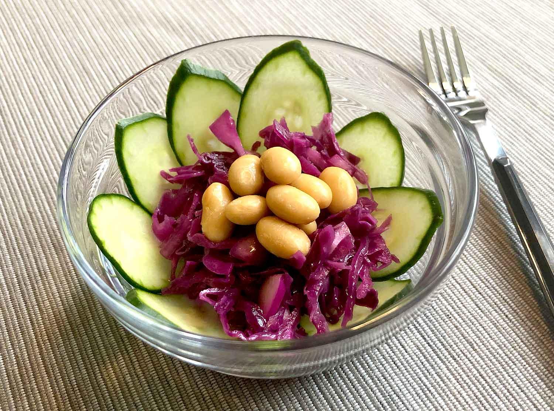 調理例:豆のサラダ